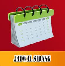 JADWAL SIDANG